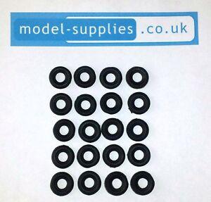 Corgi Mini 12mm O/D Black Reproduction Rubber Tyres fits Mini Corvair A60 Herald