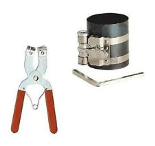 2 Pc Piston Ring Compressor Ratchet Style and Piston Ring Installer Pliers