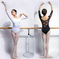 Leotard.Lace Ballet Costume.Girls Adult Size Gymnastic Dance White or Black