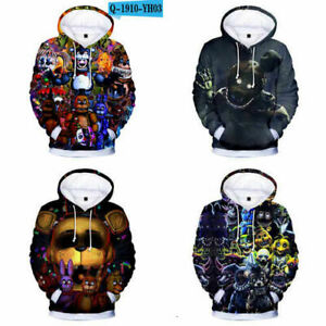 New Five Nights At Freddy's Hoodie Sweatshirt Anime Pullover Hooded Kids Clothes