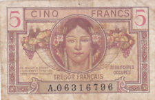 5 FRANCS FINE BANKNOTE FROM FRANCE/TERRITOIRES OCCUPEES 1947 PICK-M6
