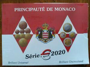 Coffret MONACO 2020 BU 1 Cent à 2 Euro Brillant Universel NOUVEAU PROMO JANVIER