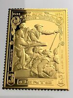 1934 Jacques Cartier Canada 3 Cents Silver Ingot 26g Commemorative Stamp U425