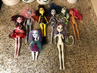 Monster High Doll Lot For PARTS