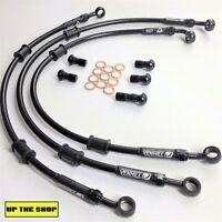 KAWASAKI ZRX1200 R/S 2001-08  VENHILL F&R s/steel braided brake hose set Race