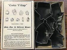 Vintage Fox Run Craftsmen Metal Cookie Cutters Cookie Village Hand Crafted (4)