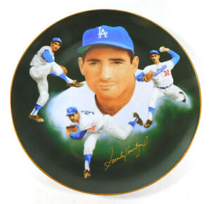 1985 Hackett American Sandy Koufax Dodgers Collectors Plate Autograph