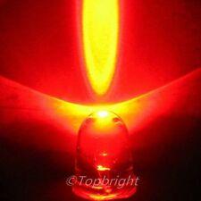 200 PCS  Mega Bright Red LED 10mm 70,000 mcd F/R