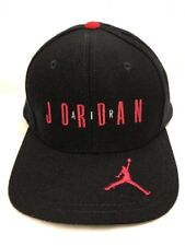 Vintage Micheal Jordan Nike Air 23 Snapback Hat Black Red 90s Bulls 100% Wool