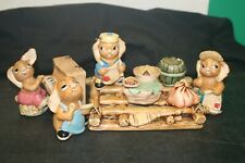 Lot of Pendelfin Figurines on Base (7)