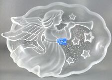 STUDIO NOVA Japan Angel CHRISTMAS Music CRYSTAL Candy Trinket Dish VG - In Aus