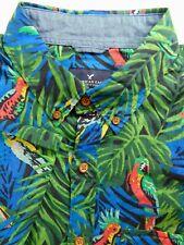 American Eagle Large Short Sleeve Tropical Bird Shirt