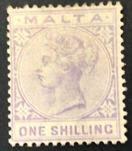 Malta Victoria 1/- Pale Violet SG29 Mounted Mint C/V £60.00 in 2018