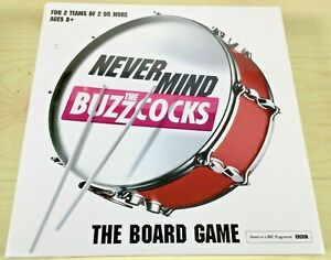 New & Sealed Never Mind The Buzzcocks - The Board Game Based On BBC TV Series 8+