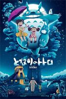 NYCC 2019 Totoro Try Laughing Patrick Connan Poster Screen Print 24x36 Mondo