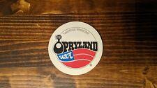 Opryland USA (Nashville TN) refrigerator magnet, handmade from vintage materials