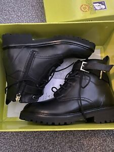 Ted Baker Raign Leather Biker Boots Size 5 New