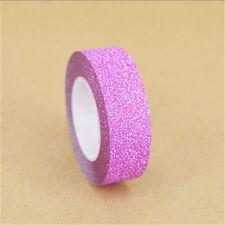 1 Roll Rose Red Glitter Washi Tape Decorative Adhesive DIY Gift & Craft Trim