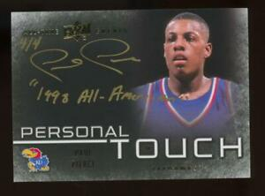 2013 Upper Deck All Time Greats Personal Touch Paul Pierce 4/4 Auto Autograph