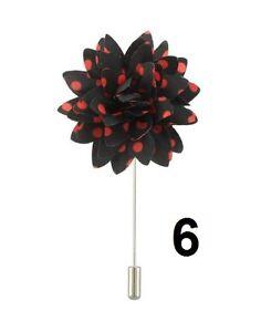 Men Floral lapel pin