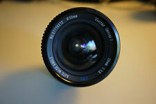 NIKON MOUNT VIVITAR SERIES 1 AUTO WIDE ANGLE LENS.--28MM--F/1.9 w/caps