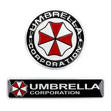 Hot Resident Evil Umbrella 3D Car Sticker Car Styling Aluminum alloy Auto Decal