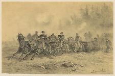 Civil War Drawings: Horse Drawn Artillery : Fine Art Print