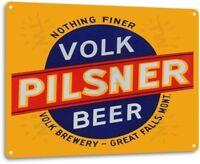 Volk Pilsner Beer Decor Wall Art Bar Pub Beer Shop Store Cave Sign