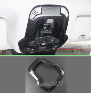 Carbon Fiber Reading Light Lamp Cover Trim For Alfa Romeo Giulia Stelvio 2017-19