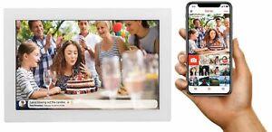 """Digitaler Bilderrahmen WLAN 10,1"""" 1280x800 touchscreen Denver PFF-1017 WHITE"""