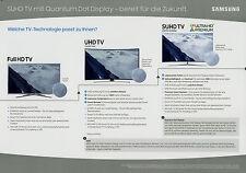 Prospekt 1 Blatt Samsung SUHD TV mit Quantum Dot Display 4/16 2016 Werbung