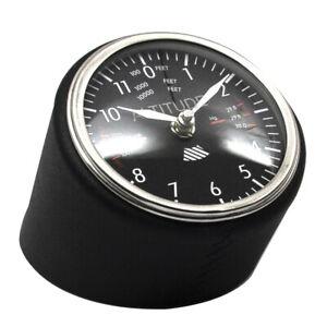 Uhr Tischuhr Altitude clock Authentic Models Fliegeruhr Höhenmesser schwarz