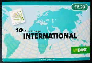 IRELAND 2009 FLOWERS BOOKLET COMPLETE PANE OF 10 x 82c GUMMED ISSUE MNH SG SB151