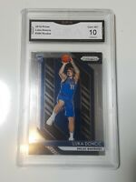 2018-19 PANINI PRIZM #280 LUKA DONCIC DALLAS MAVERICKS RC ROOKIE GMA 10 GEM MINT