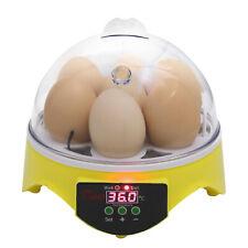 New listing 7-Egg Digital Mini Bird Automatic Clear Chicken Duck Egg Incubator Hatcher