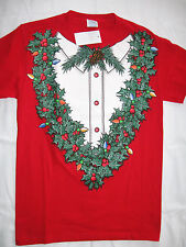 "NWT Men's S Red ""Holiday Cheer"" Christmas-Themed T- Shirt"