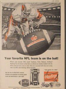 1969 Rawlings St Louis Cardinals NFL Team Football Sports Trade Promo Print Ad