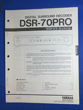 YAMAHA DSR-70 PRO SURROUND DECODER SERVICE MANUAL ORIGINAL FACTORY ISSUE
