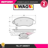 1262 Kit pastiglie freno a disco ant.Ford Transit 2000> (MARCA-WAG)