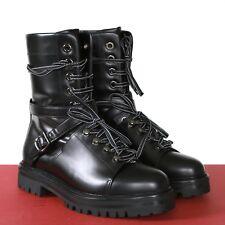 5c7821de257 VALENTINO GARAVANI spike rockstud buckle strap combat commando sole boots  39 NEW