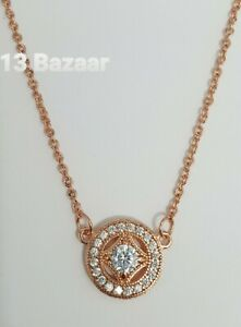 Rose Gold Allure Necklace 590523CZ-45 S925 ALE Pandora Genuine Vintage UK Fast P