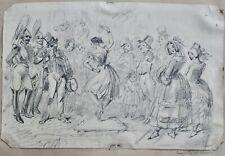 George Cruikshank dancer drawing