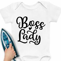 Boss Lady Iron-On Transfer Sticker T-Shirt Heat Vinyl Funny Gift Idea Mom Women