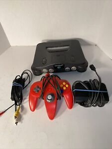 Nintendo 64 Console With Controller/rumble Pack And Cords Tested Working