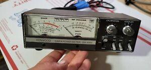 KENWOOD SW 2000 SWR POWER METER W/ COUPLER SWC-3