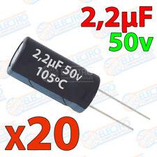 20x Condensador 2,2uF 50v electrolitico 105ºC 20% 4x8 PCB PIC Arduino