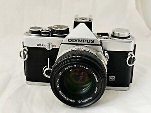 Olympus OM-2N Film Camera & 50mm f1.8 Lens, New Seals, Working Meter, Near Mint