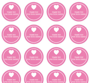 48x Thank you for your order Labels / Stickers Handmade Small Business 40mm