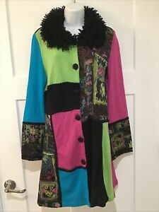 The Collective Works Of Berek 2 Colorful Long Cardigan Size L