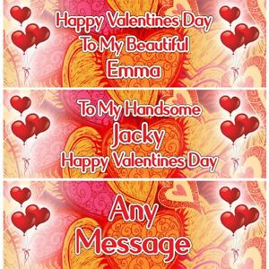 2 Personalised Valentine's To Beloved Ones Party Decoration Banners Posters